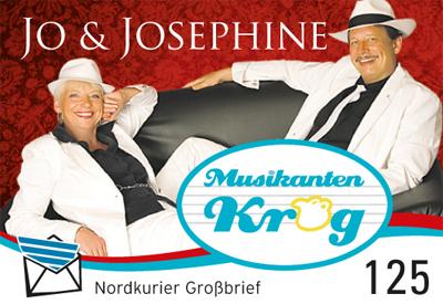 Briefmarke für Künstler (Gesangsduo Jo & Josephine)
