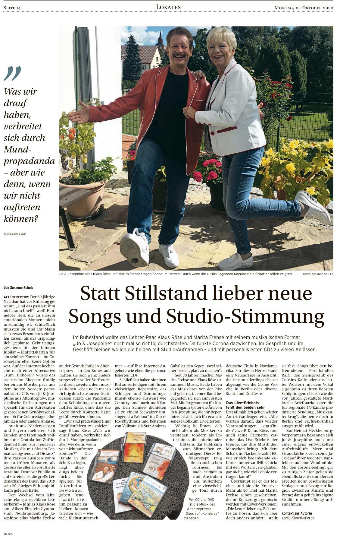 Interview mit norddeutschem Schlagerpaar