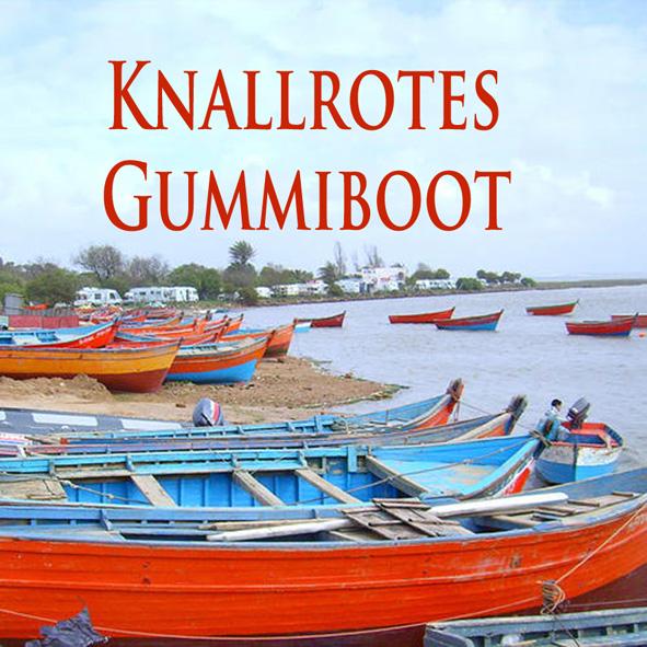 Cover knallrotes Gummiboot