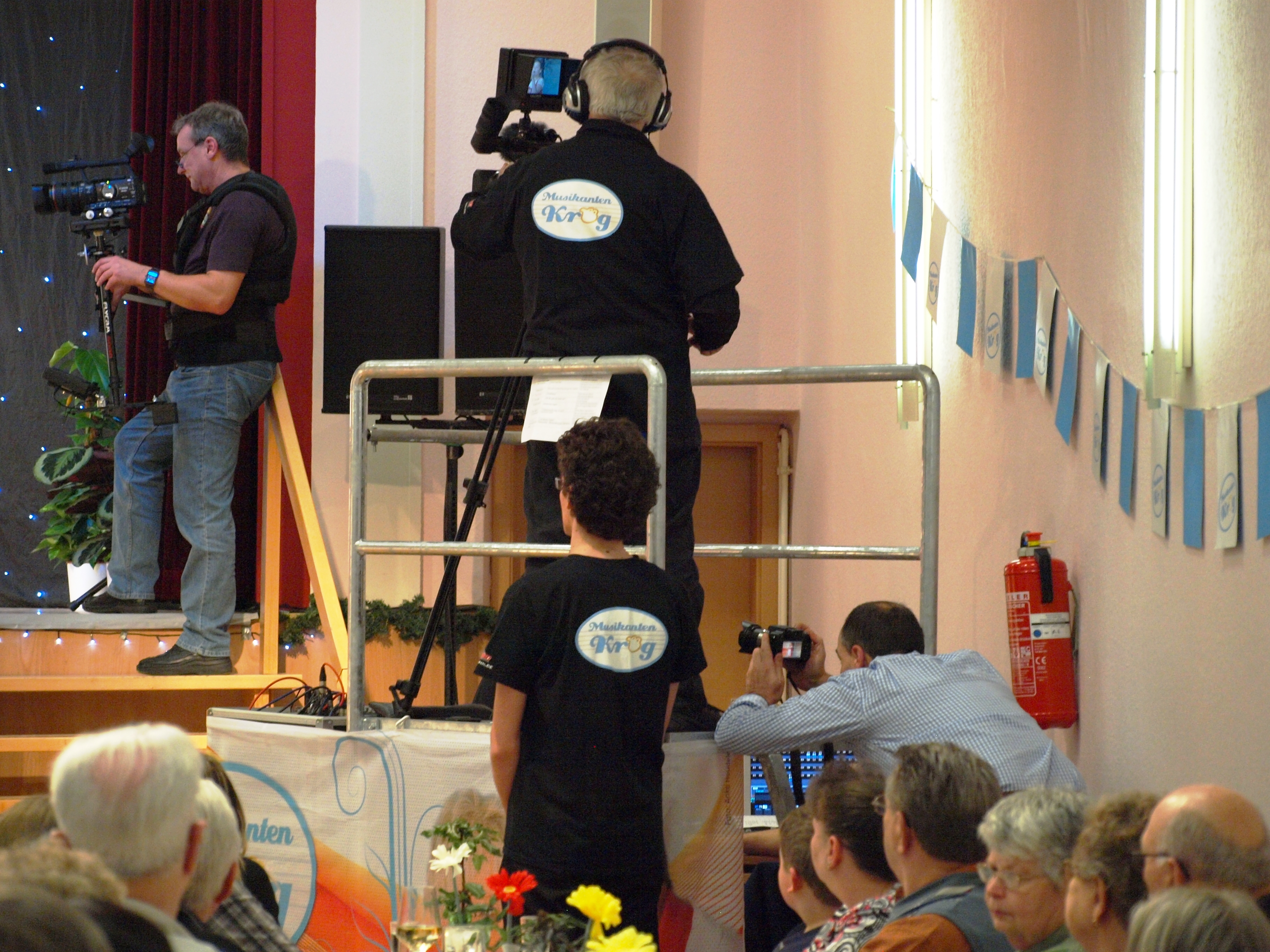 Kameramänner beim Musikantenkrug