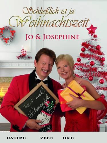 Plakat Weihnachtsshow mit Gesangsduo