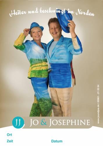 Plakat norddeutsche Musik mit Gesangsduo Jo & Josephine