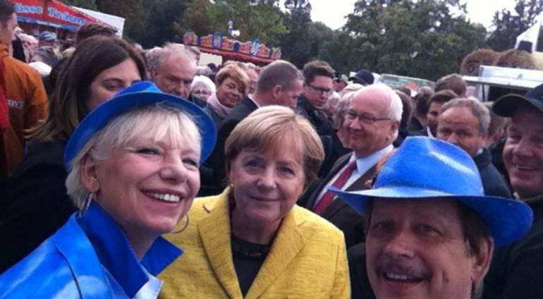 Angela Merkel und Jo & Josephine