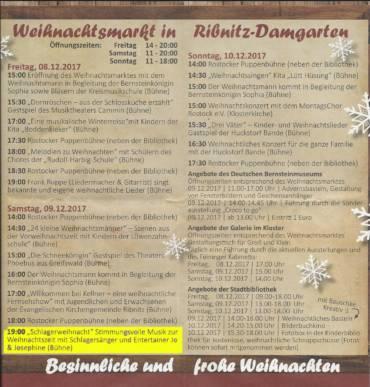 Zum Weihnachtsmarkt in Ribnitz-Damgarten