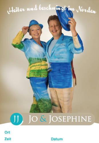 Plakat Jo & Josephine mit norddeutscher Musik
