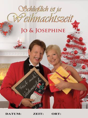 Schlagerduo Jo & Josephine Weihnachtsplakat