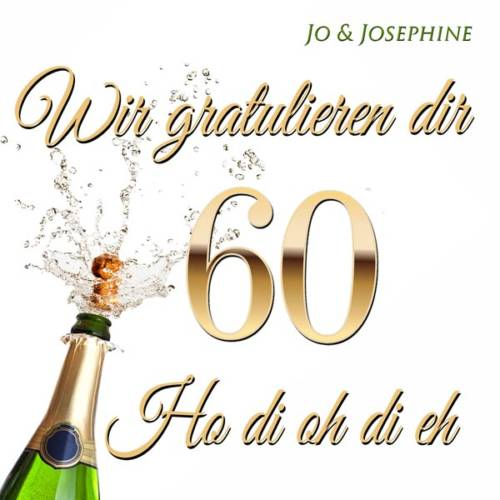 CD-Cover Glückwünsche zum 60. Geburtstag Wir gratulieren dir