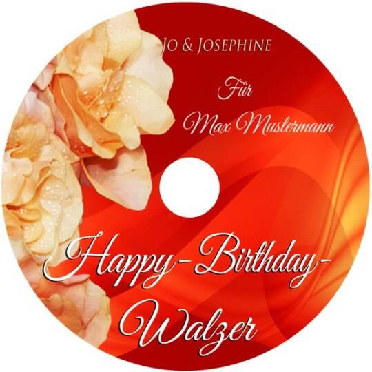 cd personalisierter geburtstagswalzer als geschenk label