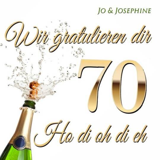 cd-cover glueckwuensche zum 70. geburtstag - Wir gratulieren dir zum Geburtstag