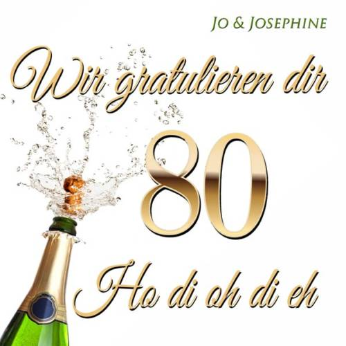 cd-cover Glückwünsche zum 80. geburtstag Wir gratulieren dir