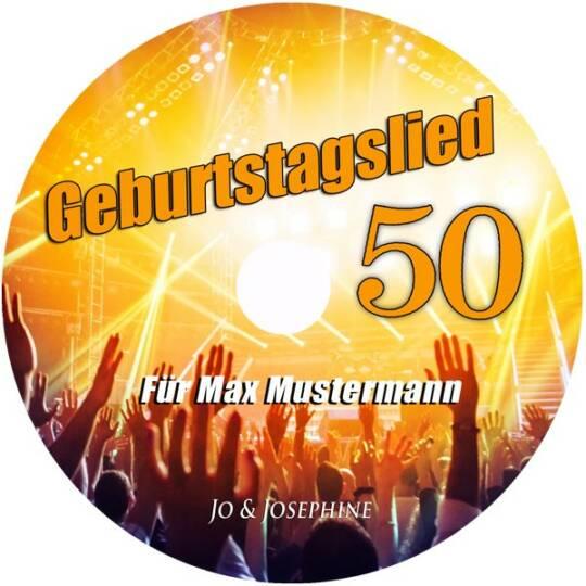 Label personalisiertes geburtstagslied - cd zum 50. geburtstag