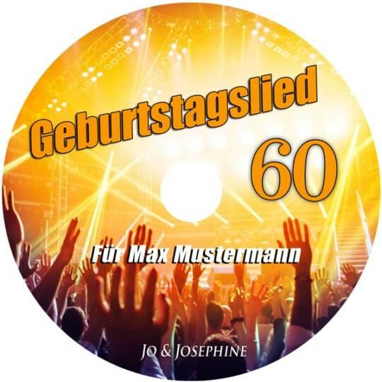 personalisiertes geburtstagslied - cd zum 60. geburtstag label