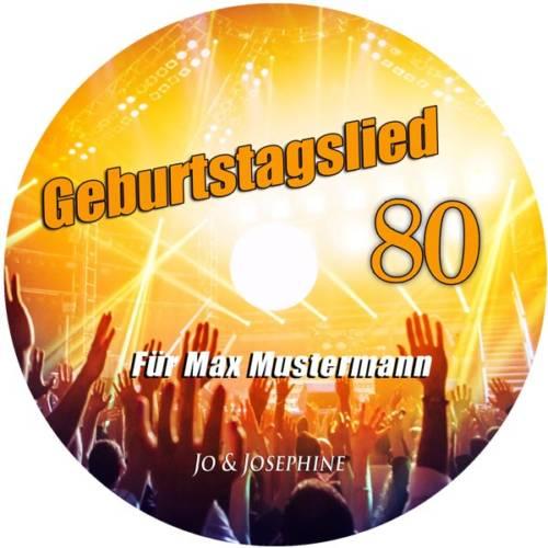label personalisiertes geburtstagslied - cd zum 80. geburtstag