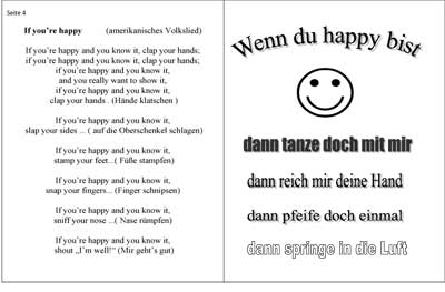 Liedtext Kinderlied If you're happy