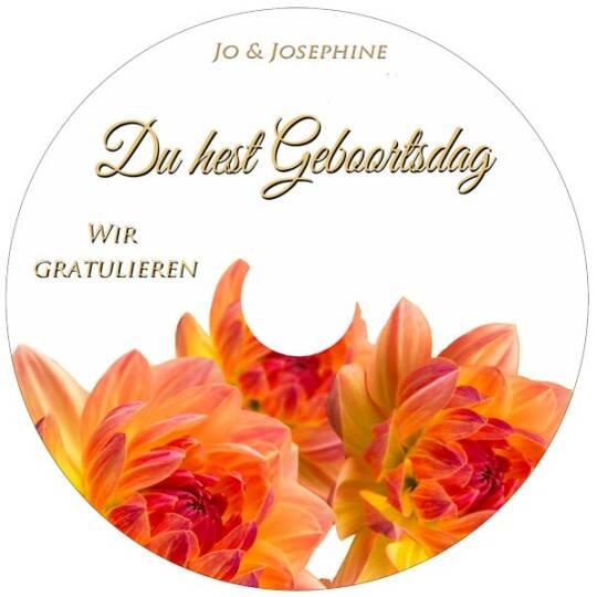 Label plattdeutsches Geburtstagslied mit persönlichem Gratulationstext