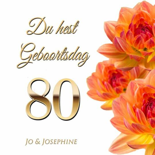 Plattdeutsches Geburtstagslied zum 80 Cover