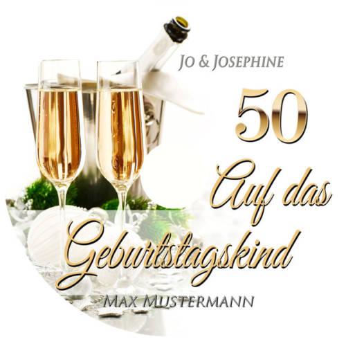 Lied zum 50. Geburtstag personalisiert Cover