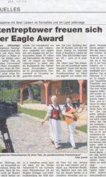 Presseartikel Altentreptower gewinnen Eagle Award