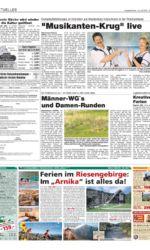 Zeitungsartikel Fernsehaufzeichungen mit Jo & Josephine