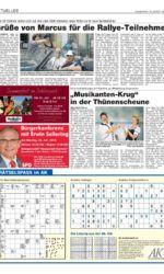 Presseartikel TV-Sendung von Altentreptower Gesangsduo in der Thünenscheune