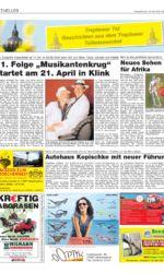 Presseartikel TV-Show norddeutscher Sänger in Klink
