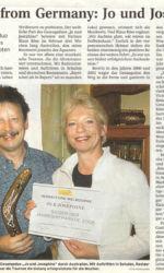 Presemitteilung Altentreptower Gesangsduo auf Australientournee