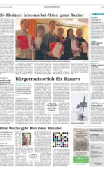 Presseartikel Altentreptower Schlagerduo auf Grüner Woche