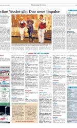 Presseartikel Norddeusches Gesangsduo auf Grüner Woche