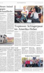 Presseartikel über Amerikatournee des Gesangsduos Jo & Josephine