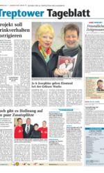 Pressseartikel eine Seite des Nordkurier vom 7. Januar 2010 Altentreptower Schlagerduo auf Grüner Woche