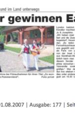 Presseartikel Eagle Award für norddeutsches Gesangsduo